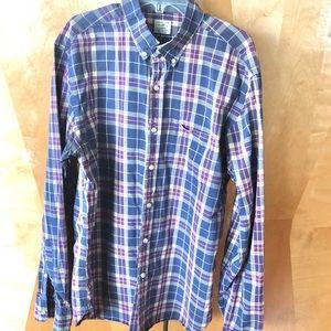 J Crew button plaid shirt